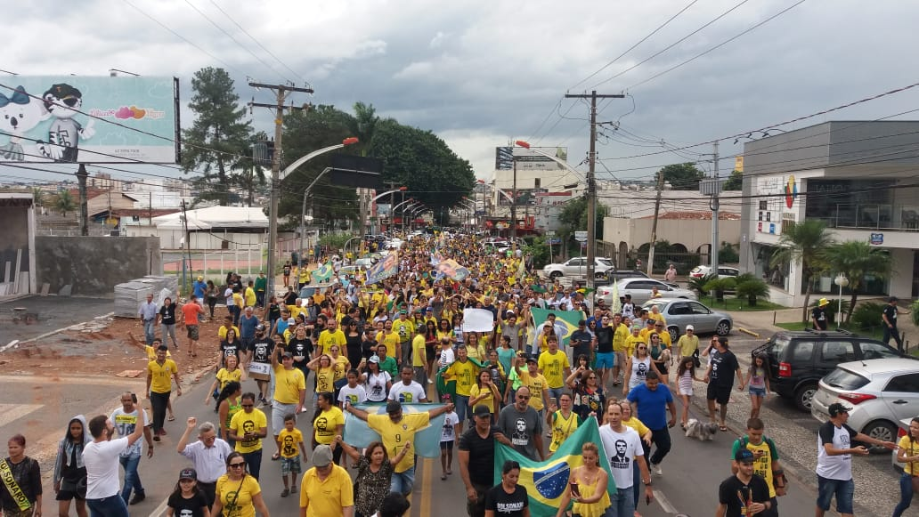Movimento Pró Bolsonaro em Anápolis