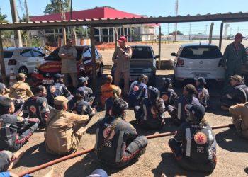 O treinamento aconteceu na Fazenda Santa Branca, nas proximidades de Terezópolis