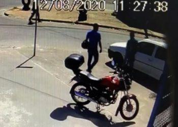 Imagem de video cedido pela Polícia Civil em que aparece Carlos Célio Soares, de 53 anos