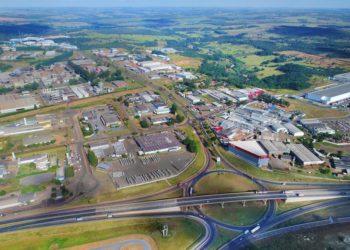 Vista aérea do Distrito Agro Industrial de Anápolis
