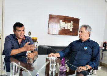 Delegado Humberto, candidato a prefeito e Amaury Esberard, vice