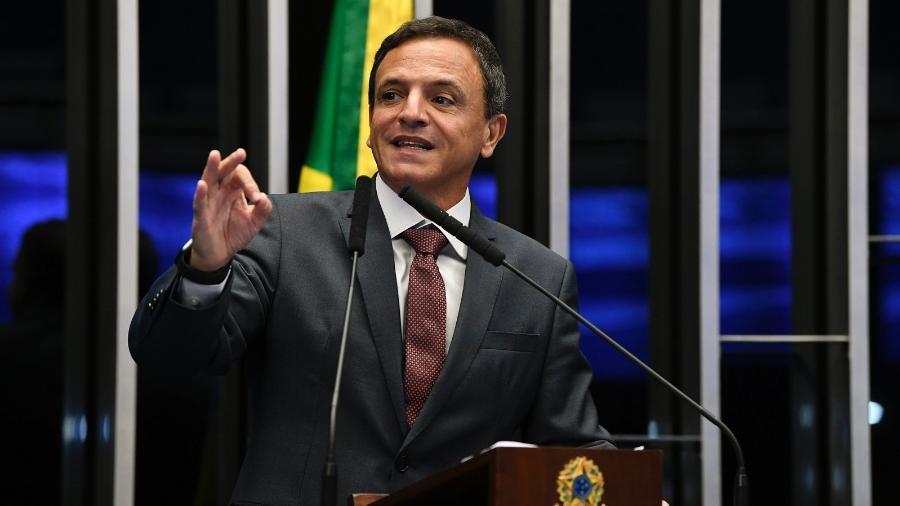 O senador Márcio Bittar (MDB-AC), relator da PEC Emergencial no Congresso Imagem: Jefferson Rudy/Agência Senado