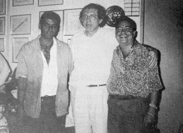 Tião (à direita) e João de Deus (centro): homem era o assistente pessoal do médium