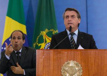 (Brasília-DF, 25/03/2021) Palavras do Presidente da CAIXA, Pedro Guimarães. Foto: Isac Nóbrega/PR