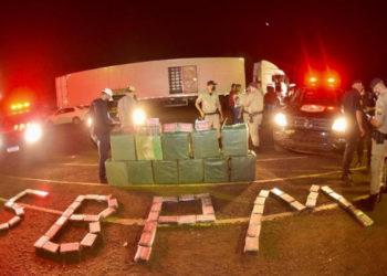 Em Itumbiara, forças policiais apreendem carga de cocaína avaliada em R$ 25 milhões