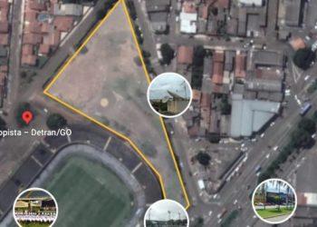 O local, de aproximadamente 9,5 mil m² fica numa área nobre do bairro Jardim Ana Paula, setor central de Anápolis, nos fundos do estádio Jonas Duarte
