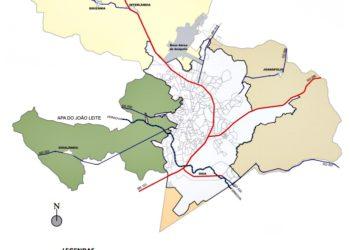 A  parte mais ao Norte do mapa, na cor amarelada, é onde deve ser buscada a nova área