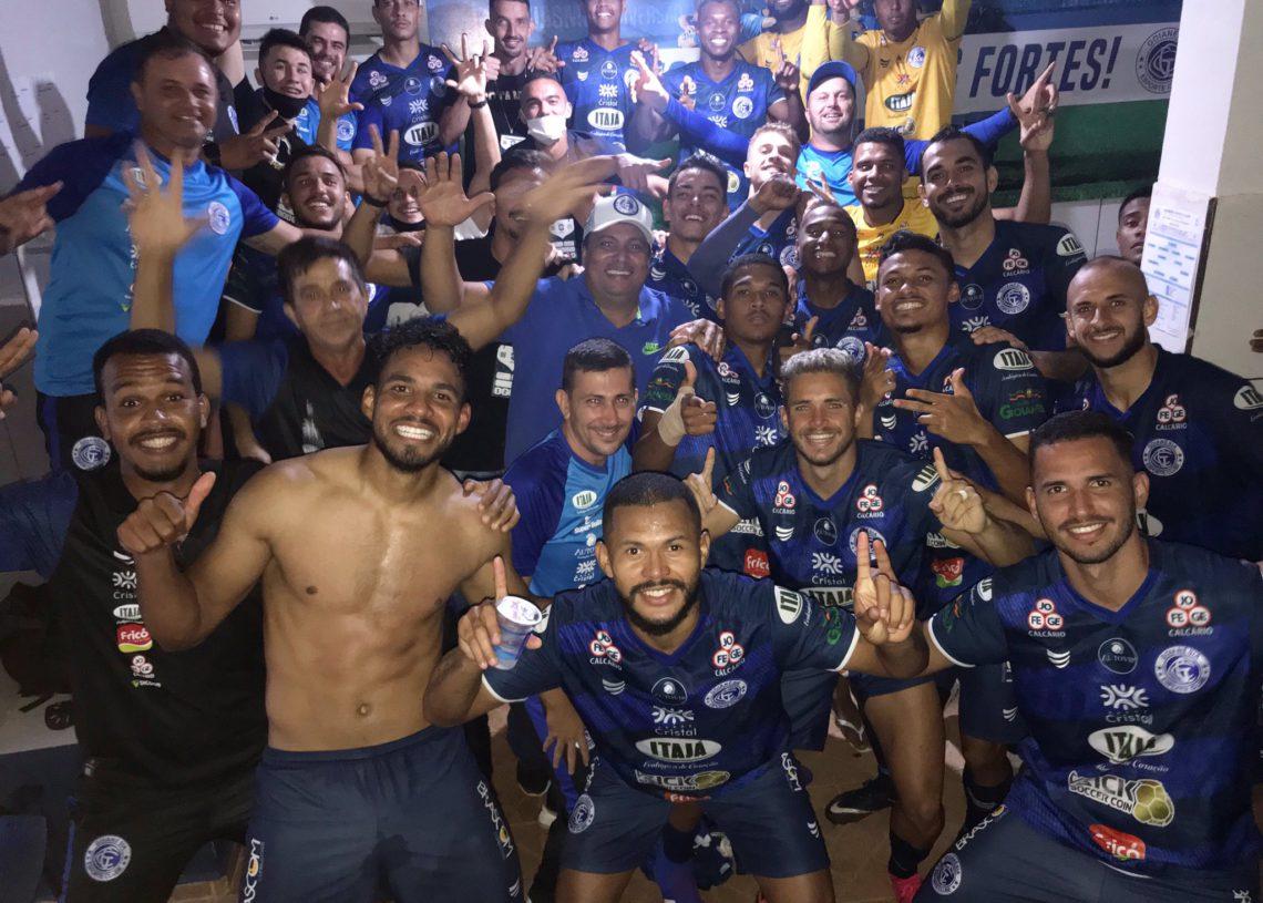 Azulão segue invicto na Série D, com três vitórias e três empates (Foto: Comunicação/Goianésia)