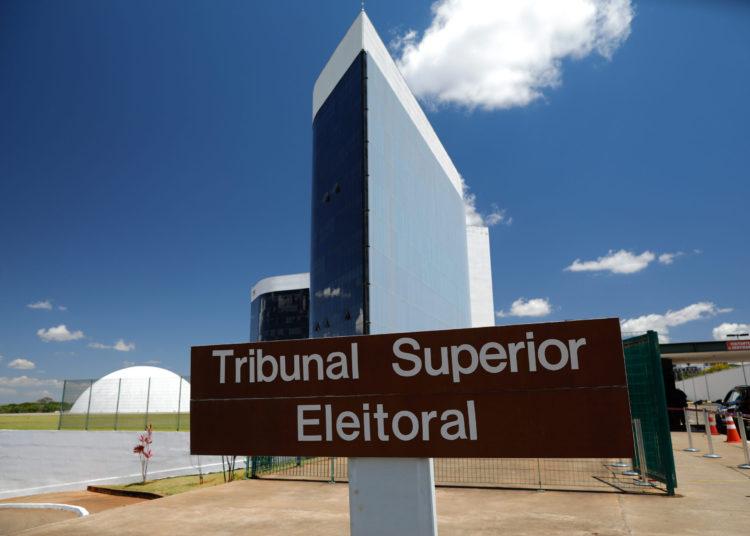 Fachada do Tribunal Superior Elitoral (TSE) placa externa, entrada. Sérgio Lima/Poder360 25.11.2020