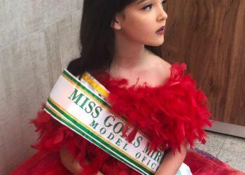 Sophia Geraldes é atual Miss Goiás Mirim (Foto: Arquivo Pessoal)