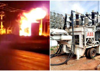 Incêndio subestação enel